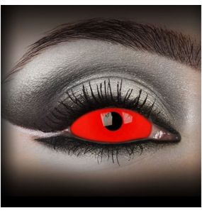 Red 'Cyclop' Sclera Contact Lenses