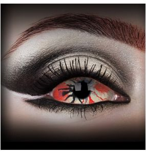 Red 'Locus' Sclera Contact Lenses