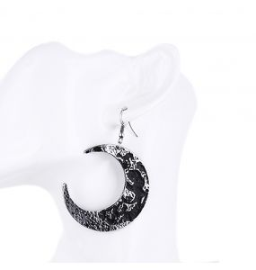'Moon Textured' Earrings