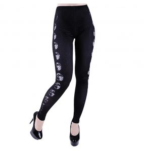 Black 'Moon Phases' Leggings