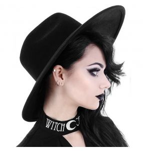 Black Gothic 'Witch' Wide Brim Hat