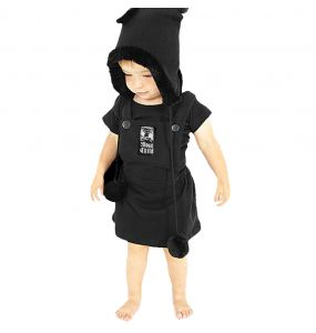 Black 'Moon Child' Kids Dress