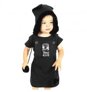 Robe Fillette 'Moon Child' Noire