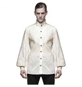 White 'Charon' Steampunk Shirt