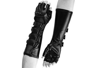 Gants Gothiques pour Hommes 'Predator' avec Boucles et Spikes