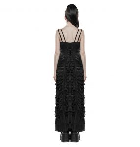 Black 'Utopia' Long Gothic Dress