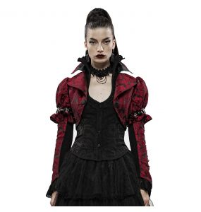 Red and Black 'Versailles' Bolero Jacket