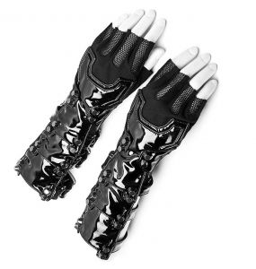 Black Vinyl and Mesh 'Mesmerizer' Females Gloves