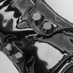 Gants pour Femmes 'Mesmerizer' en Vinyl et Résille Noirs