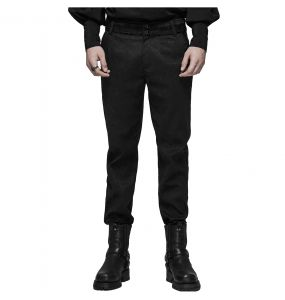 Black 'Goth Blood' Jacquard Pants