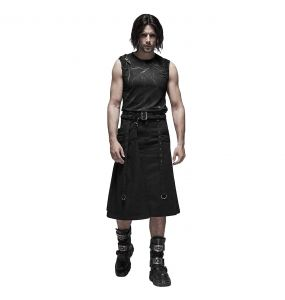 Black 'Nostromo' Male's Kilt