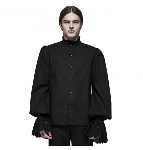 Black 'Roque Baroque' Victorian Shirt