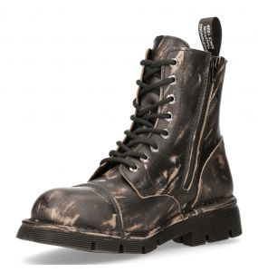 Brown Vintage Scratchy Leather New Rock Newmili Ankle Boots