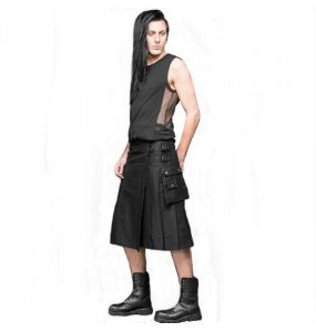 Black 'Dark Elegance' Kilt