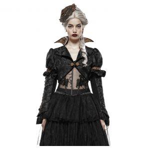 Boléro Steampunk 'Versailles' Noir et Marron