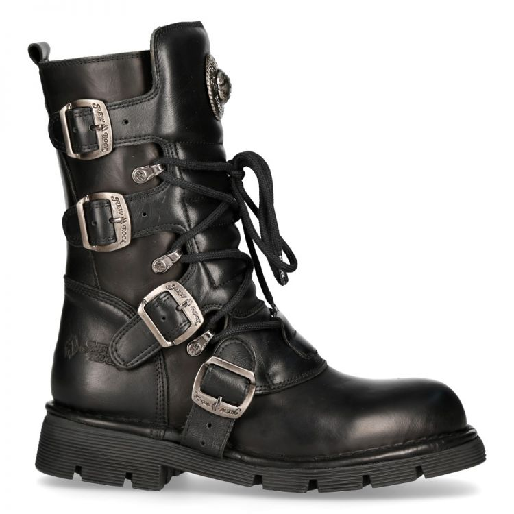 Black Itali and Nomada Leather New Rock Comfort Light Boots
