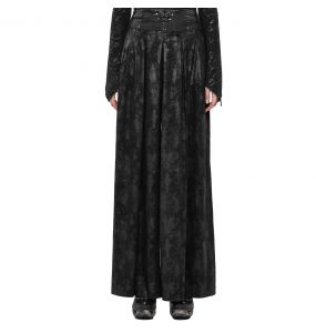 Black 'Misteria' Trousers-Skirt