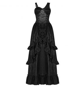 Black 'Cassiopeia' Long Dress