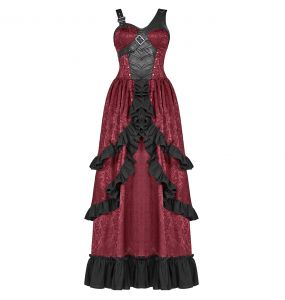 Longue Robe 'Cassiopeia' Rouge