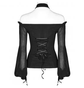 Black 'Shadows Fall' Top