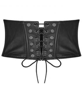 Red and Black 'Bestia' Females Corset Belt