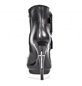 Black Nomada Leather New Rock Punk Ankle Boots