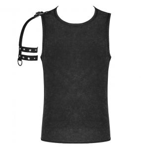 Black Sleeve Less 'Orkus' T-Shirt