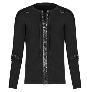 Black Long Sleeves 'Nautilus' Top