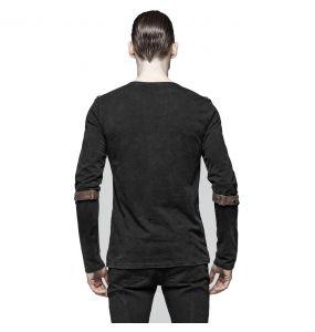Black and Brown Long Sleeves 'Nautilus' Top