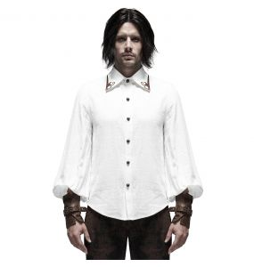 White 'Gunslinger' Steampunk Shirt