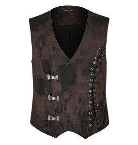 Gilet Steampunk 'Coyote' Marron