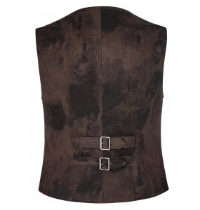 Brown 'Coyote' Steampunk Waistcoat