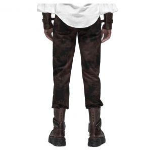 Pantalon Steampunk 'Coyote' Marron