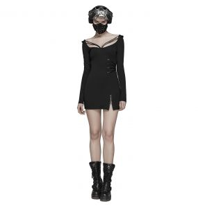 Black 'Insecta' Mini Dress