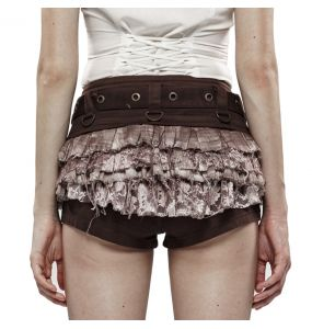 Brown 'Doom Doll' Steampunk Shorts