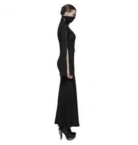 Black 'Stigmata' Long Gothic Dress