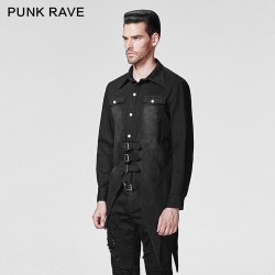 'Black Crow' Asymmetric Shirt