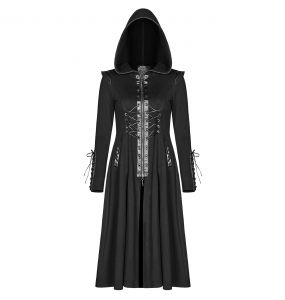 Manteau Gothique 'Alien Nation' Noir