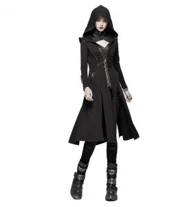 Black 'Alien Nation' Gothic Coat