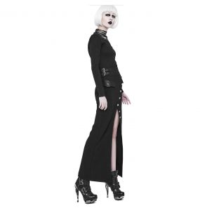 Black 'Nereid' Long Skirt