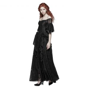 Black 'Noblessa' Victorian Long Dress