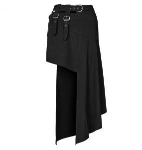 Black 'Astarte' Asymmetric Skirt