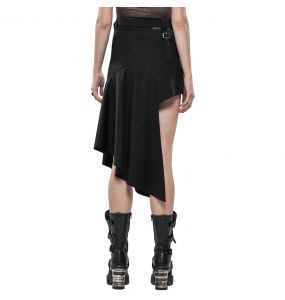 Black 'Astarte' Asymmetric Skirt