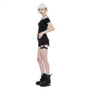Black 'Tank Girl' Gothic Shorts