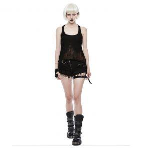 Black 'Tank Girl' Gothic Shorts