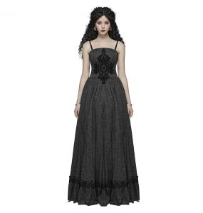 Black 'Sansa' Gothic Wedding Dress