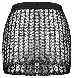Black 'Meshmerizer' Mini Skirt