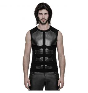Black Sleeveless 'Robot' T-Shirt