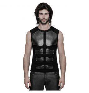T-Shirt sans Manches 'Robot' Noir