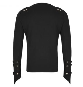 Black Long Sleeves 'Bast Bondage' Sweater